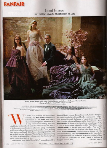 bonnie wright fondo de pantalla called Bonnie on Vanity Fair with Jamie Campbell Bower