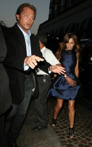 Cheryl Cole and Derek Hough out at CUT (August 7)