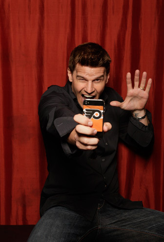 David in TV Guide Mag's fotografia Booth