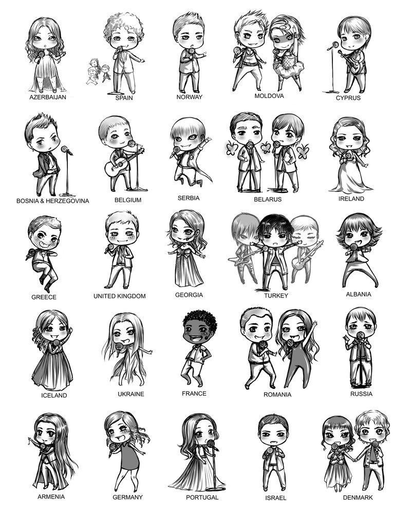 Eurovision doodles