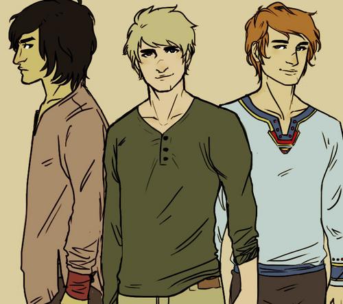 Gale, Peeta, Finnick
