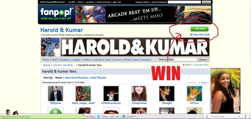 Harold and Kumar have 420 fans