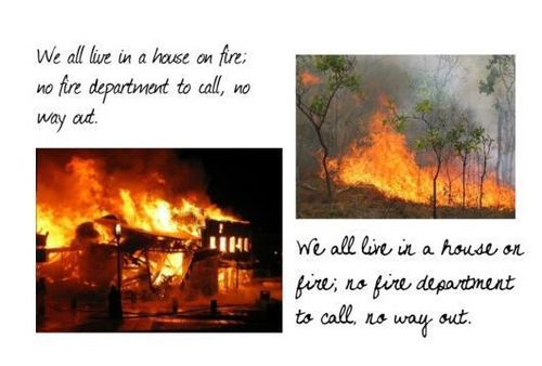 Quotes wallpaper entitled House on Fire