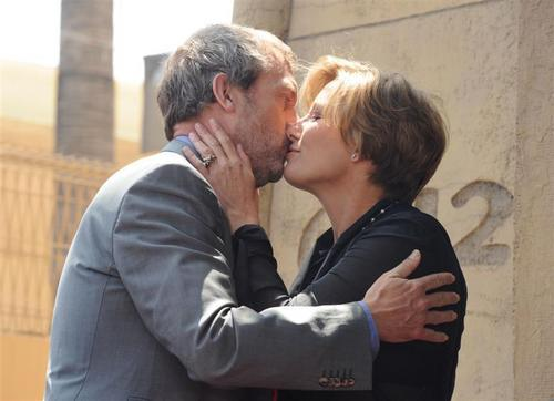 Hugh Laurie at Emma Thompson on the Hollywood Walk Fame