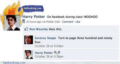 If Hogwarts had Facebook...