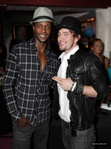 Jackson Rathbone and Edi Gathegi @ Teen Choice Award Retreat