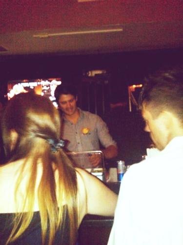 James bar tending for charity