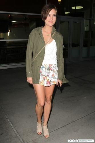 Jessica Stroup Goes To See a Movie at the Arclight in Hollywood