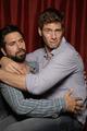 Joshua Gomez & Ryan McPartlin in the TV Guide Booth @ Comic Con 2010