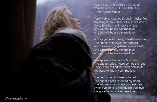 Lyrics of Cold Mountain Songs - You Will Be My Ain True Love
