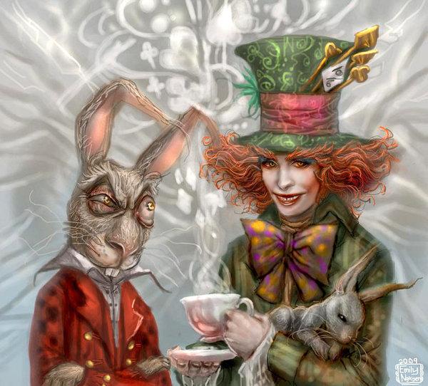 Mad hatter mad hatter johnny depp fan art 14585684 for March hare wallpaper