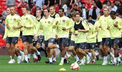 Manchester United پیپر وال entitled Manchester United Training Session