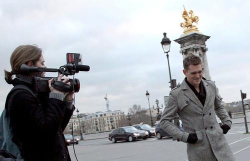 Michael Buble in Paris promoting Crazy amor (Dec. 14)