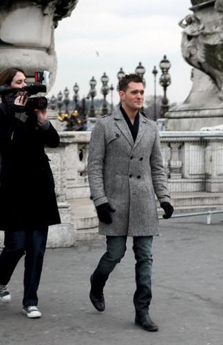 Michael Buble in Paris promoting Crazy upendo (Dec. 14)