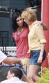 Michelle Williams &amp; Sarah Silverman on the Set from her new Movie &quot;Take This Waltz&quot; - michelle-williams photo