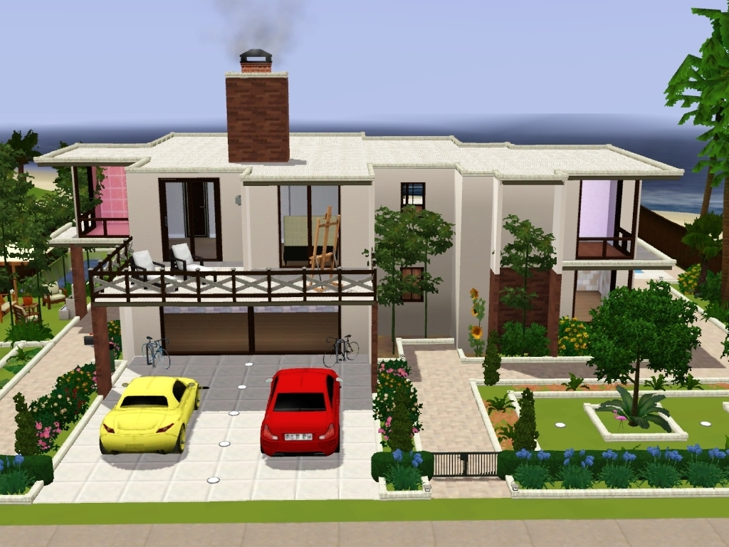 Mod the sims need advice on how to style the landscape for My family house plans