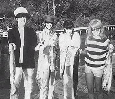 On holiday with John, Ringo and Maureen