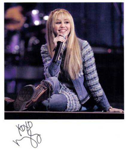 One of Miley's autographs