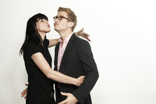 Pauley Perrette and Barrett Foa