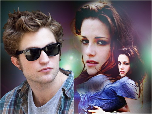 Robert Pattinson & Kristen Stewart wallpaper entitled Robsten