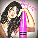 Selena witha giant crayon???