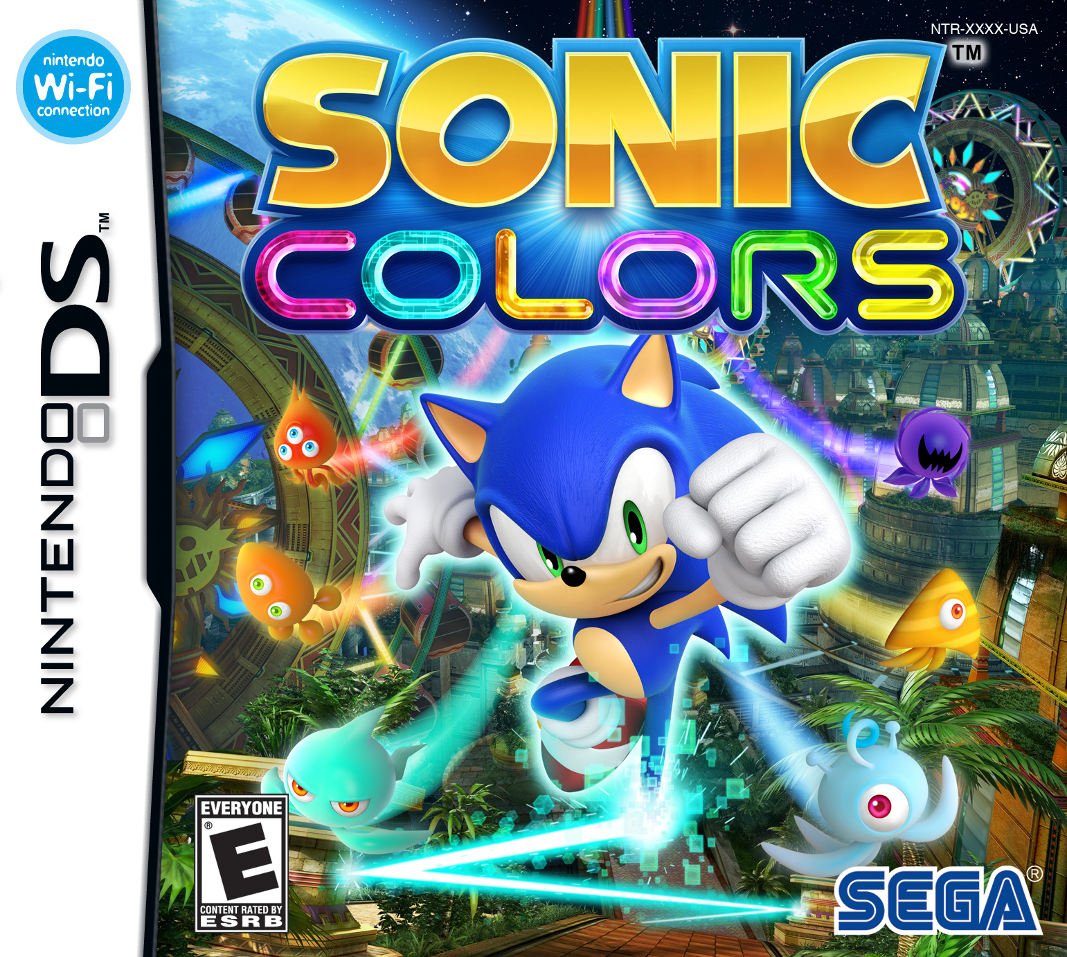 Sonic the Hedgehog Sonic Colors Wii and DS Box Art