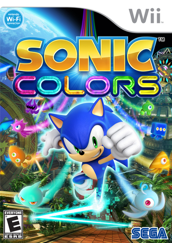 Sonic màu sắc Wii and DS Box Art