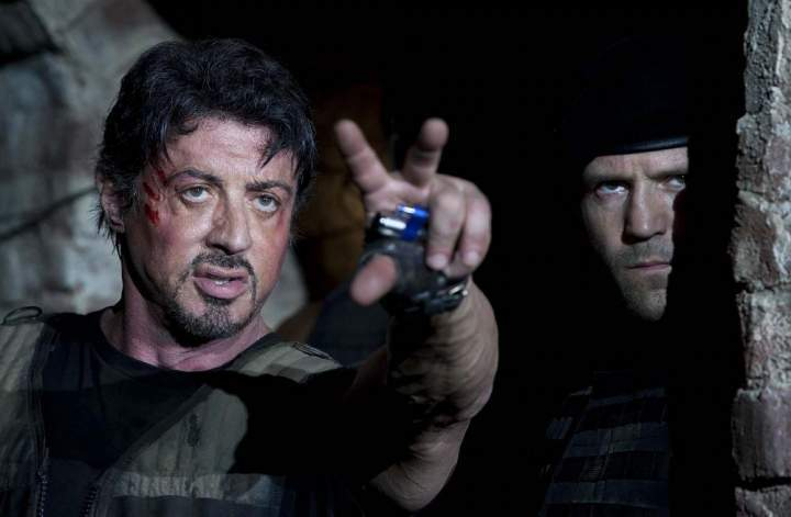 Sylvester Stallone and Jason Statham in The Expendables