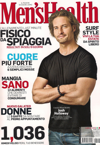 josh holloway- Magazine 2010 - July: Men's Health (Italy)