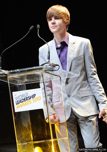 justin bieber First Annual World Leadership Awards (August 6th)