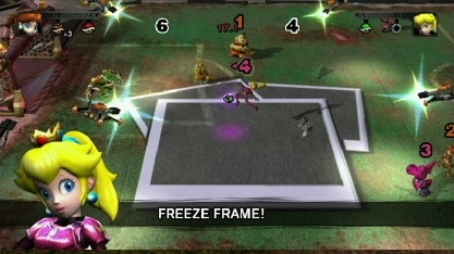 mario strikers garged football melokoton freeze frame
