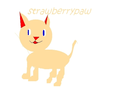 the best pic i can do of strawberrypaw on paint