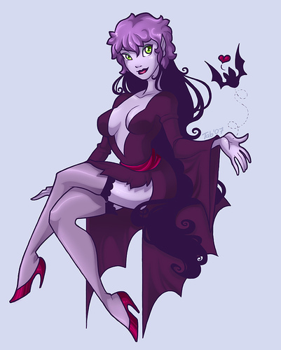 Scooby-Doo achtergrond called the dracula girl