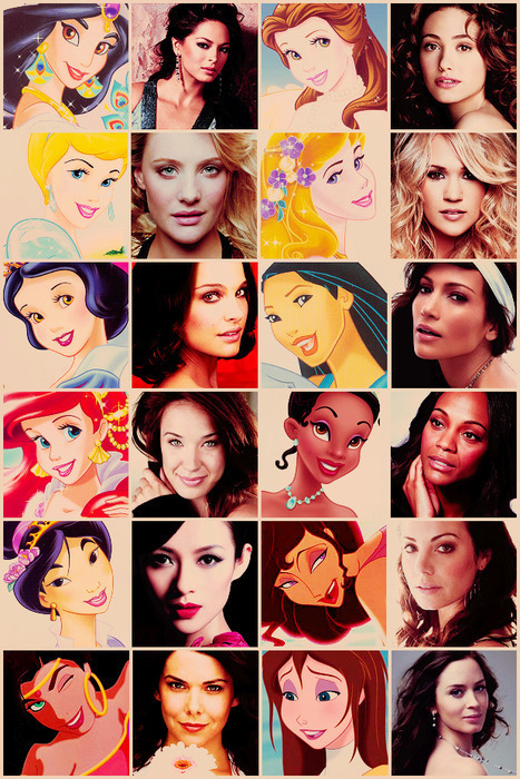 Actresses and the Princesses they would play