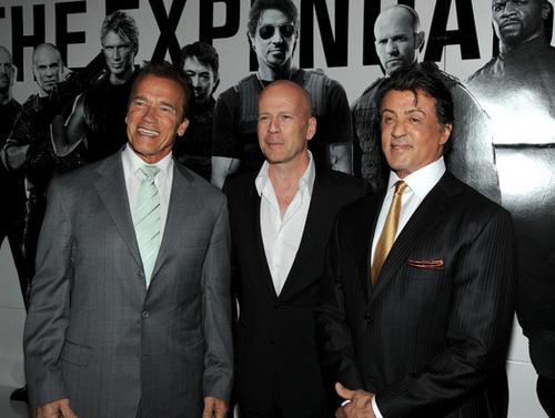 Arnold Schwarzenegger, Bruce Willis & Sylvester Stallone