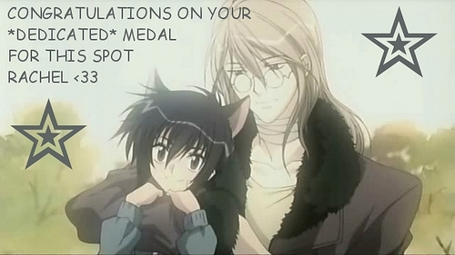 CONGRATULATIONS ON YOUR DEDICATED MEDAL FOR THIS SPOT RACHEL <33