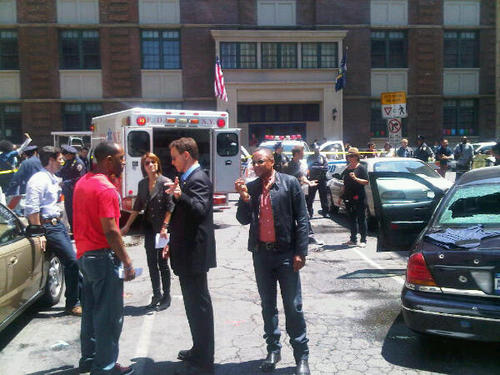 CSI: NY - Season 7 - BTS foto - 12th August 2010