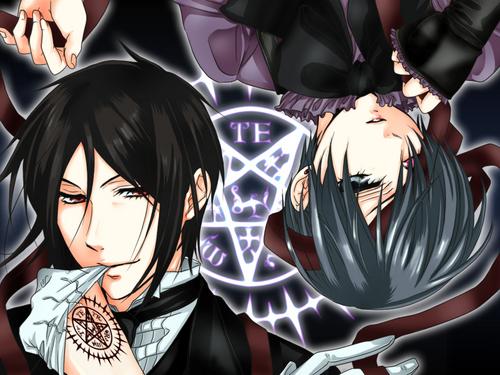 Kuroshitsuji wallpaper titled Ciel and Sebastian