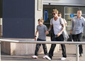 David Beckham at Nice Airport (July 4)