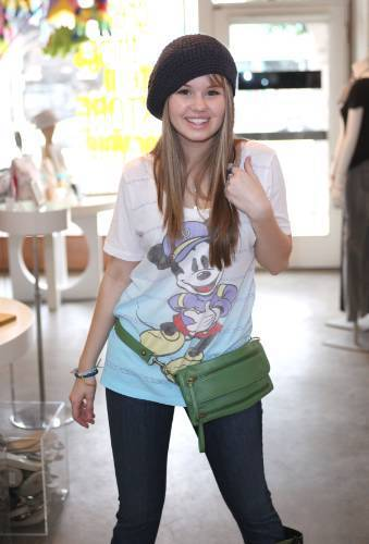 Debby Checking Out The New Hollywood Intuition Line Sold At Target(August 3,2009)