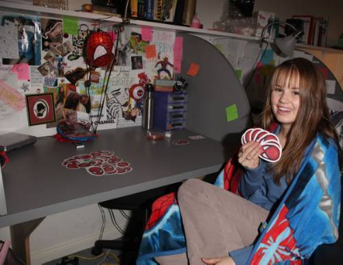 Debby Doing School Work(April,8 2009)