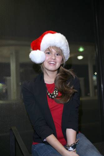 Debby Posing In A Santa Hat In Los Angeles(October 1,2009)