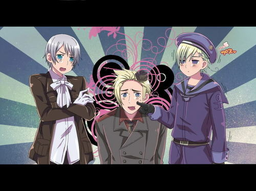 Hetalia wallpaper titled Denmark, Norway, Iceland in anime