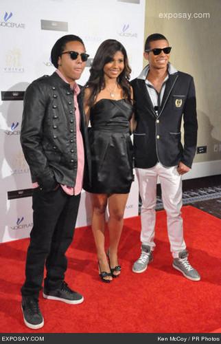 Donte, Genevieve and Randy Jackson