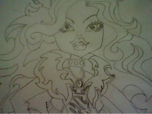 Drawing of Clawdeen Wolf