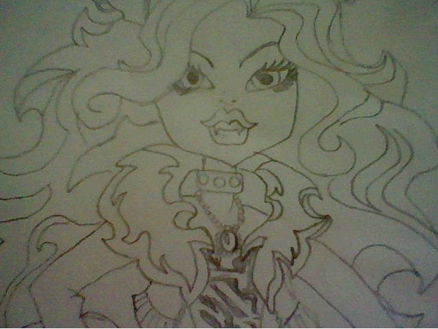 Monster High Drawing of