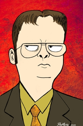 Dwight Schrute drawing