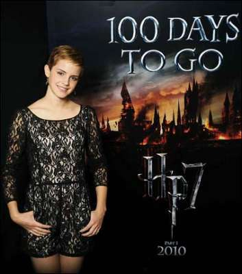Emma Watson new pic HP7 - 100 days to go
