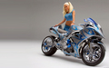 GIRL & BIKE - motorcycles wallpaper