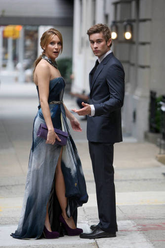 Gossip Girl - Bangtan Boys Set fotografias - Katie Cassidy and Chace Crawford